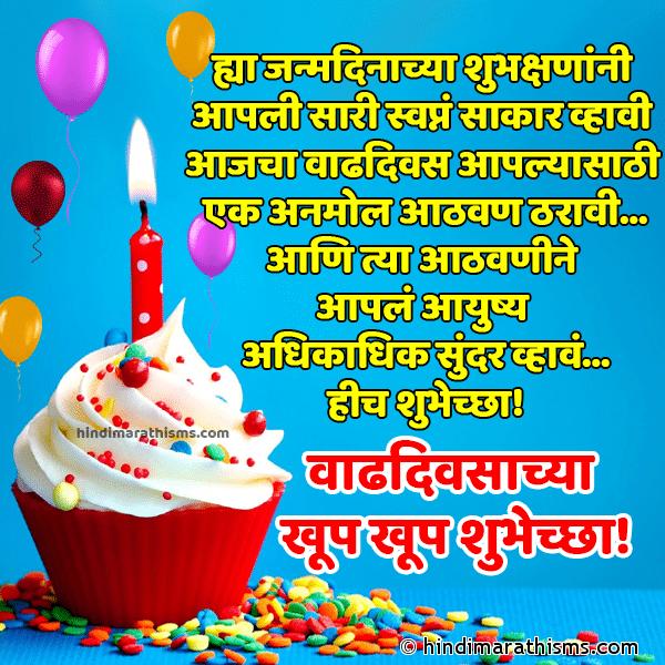 Marathi Shubhechha SMS Birthday Image