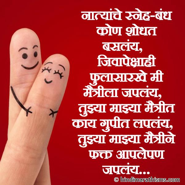 Tujhya Majhya Maitrine Aaple Pan Japlay Image