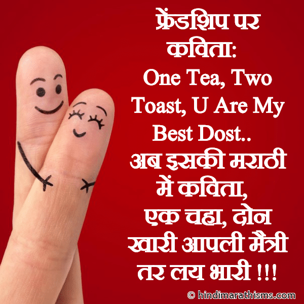 Friendship Funny SMS in Marathi Image